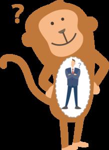 猿と人間のイメージ