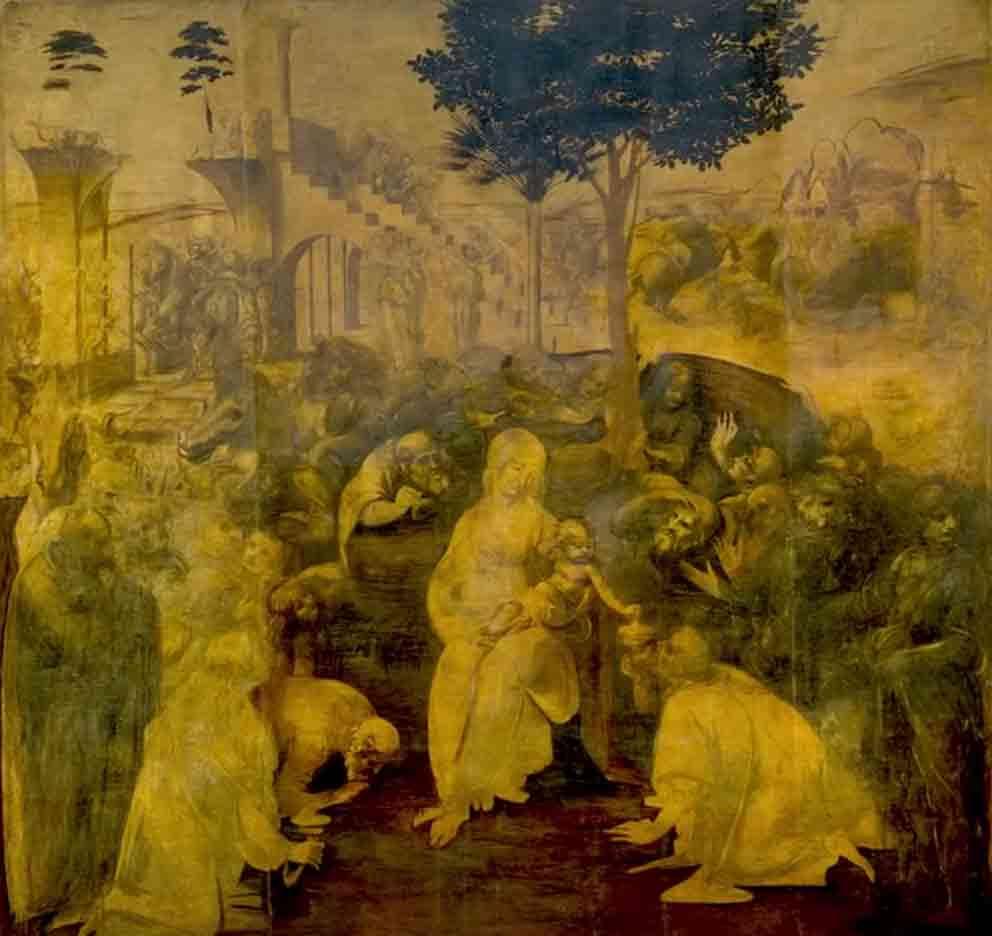 レオナルド・ダ・ヴィンチの絵画作品「東方三博士の礼拝」