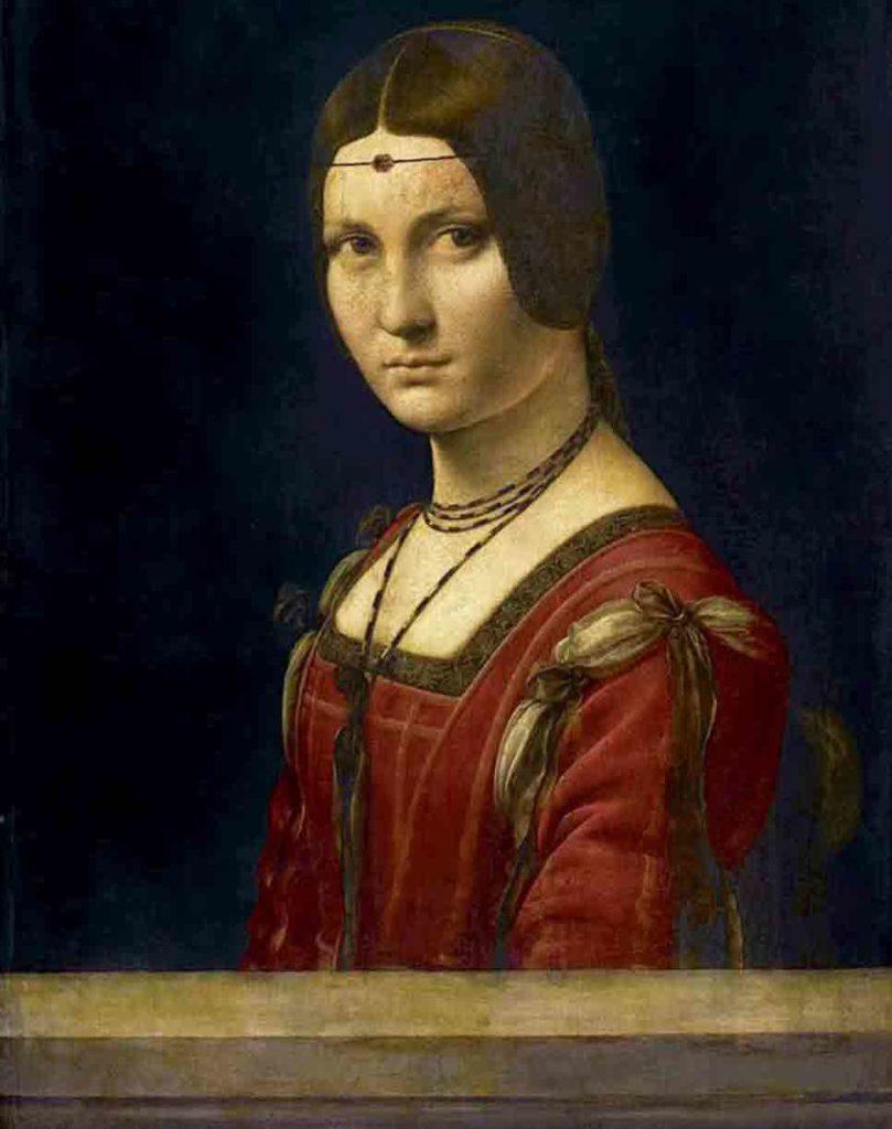 レオナルド・ダ・ヴィンチの絵画作品「ミラノの貴婦人」