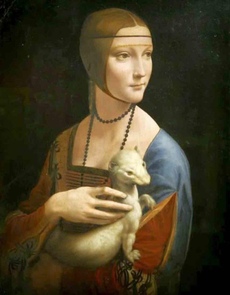 レオナルド・ダ・ヴィンチの絵画作品「白貂を抱く貴婦人」