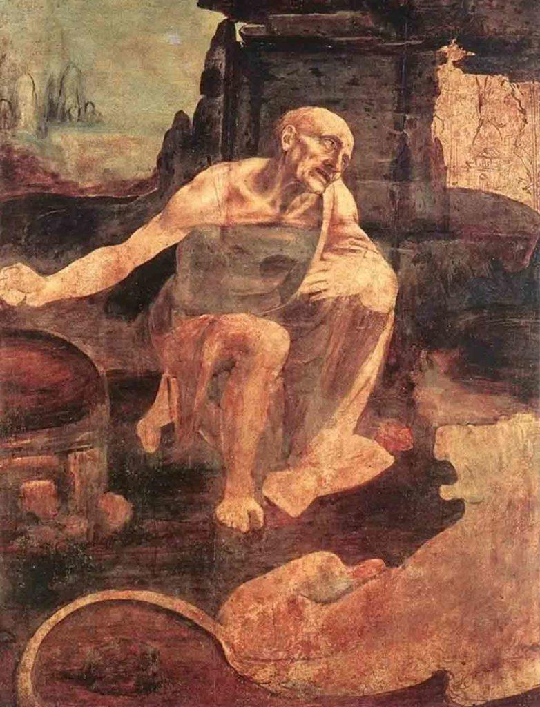 レオナルド・ダ・ヴィンチの絵画作品「荒野の聖ヒエロニムス」