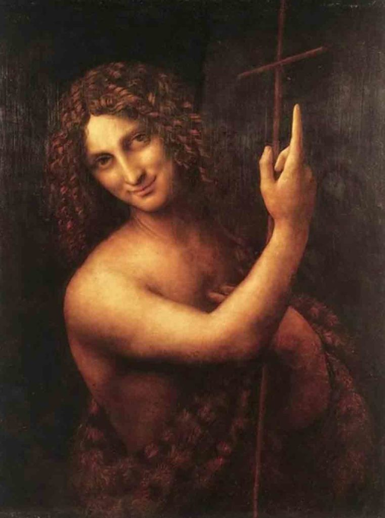 レオナルド・ダ・ヴィンチの絵画作品「洗礼者ヨハネ」