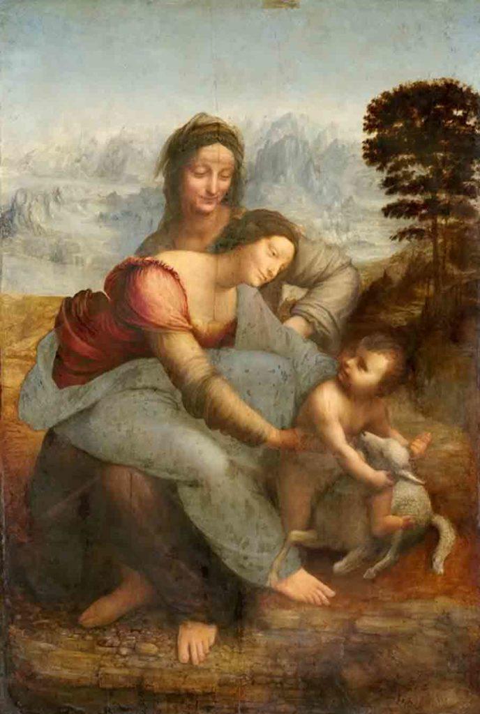 レオナルド・ダ・ヴィンチの絵画作品「聖アンナと聖母子」