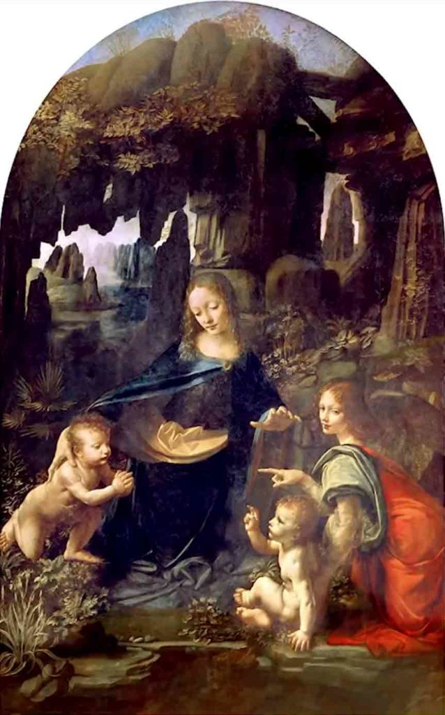 レオナルド・ダ・ヴィンチの絵画作品「岩窟の聖母」