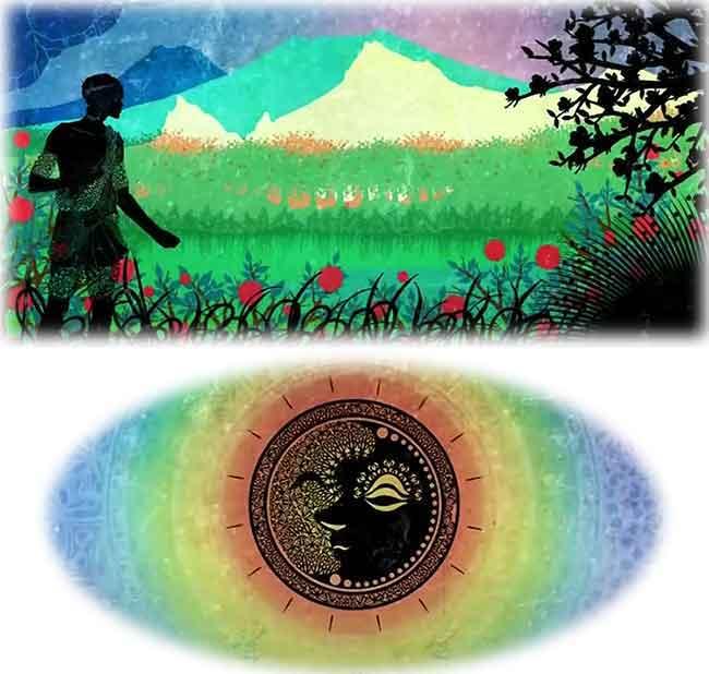 「洞窟の比喩」の物語を表すイメージ