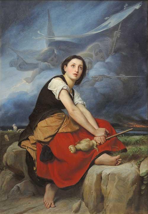 ジャンヌ・ダルクの少女時代の姿を描いたイラスト